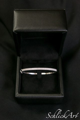 White Gold & Diamond Bangle Bracelet